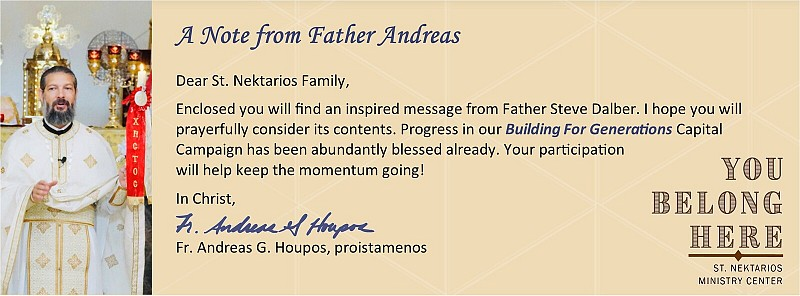 Click here to read a letter by Presbyter Emeritus Fr. Steve Dalber